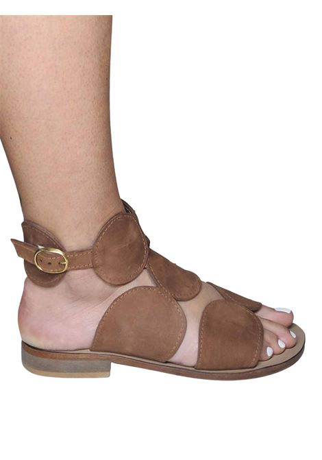 Women's Shoes Capri Sandals in Brown Suede with Back Strap Spatarella | Sandals | DI52013