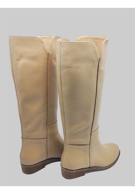 Women's Shoes Camel Leather Tube Boots Unlined Leather Bottom Spatarella | Boots | FIOREB025
