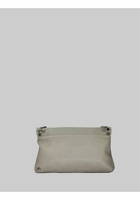 Woman Bag Small Clutch Bag in Cream Leather with Studs and Adjustable Leather Shoulder Strap Spatarella | Bags and backpacks | LOLA016