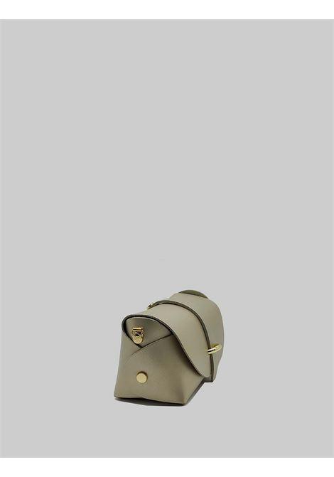 Borsa Donna Bauletto Piccolo in Pelle Champagne con Tracolla Oro Removibile Spatarella | Borse e zaini | PE0202607