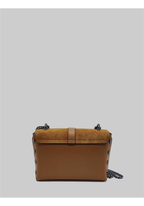 Woman Shoulder Bags in Leather and Leather Suede with Gunmetal Chain Spatarella | Bags and backpacks | PE0203014