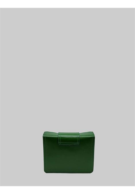 Women's Bags Clutch in Small Green Leather with Adjustable Rigid Leather Shoulder Strap Spatarella | Bags and backpacks | PE0204005