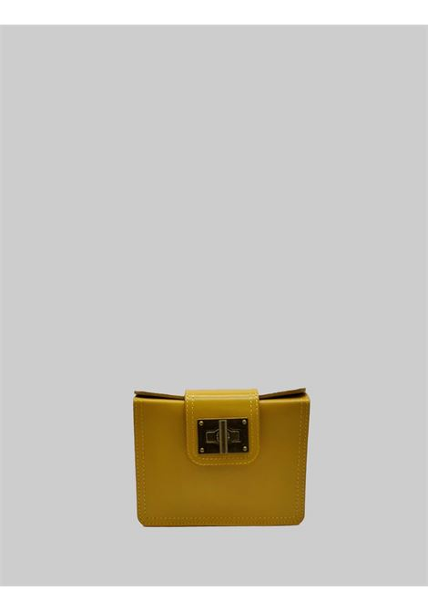 Women's Bags Clutch in Mustard Leather Small with Adjustable Leather Shoulder Strap Spatarella | Bags and backpacks | PE0204007