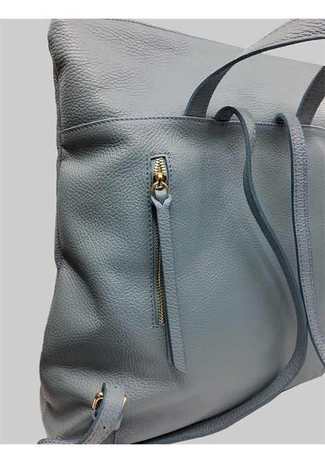 Dust Leather Woman Backpack with Gold Top Zip with Adjustable Leather Straps Spatarella | Bags and backpacks | PE0211003