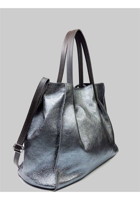 Woman Bags in Gunmetal Laminated Leather with Double Handles and Removable Shoulder Strap Spatarella | Bags and backpacks | PE0212605