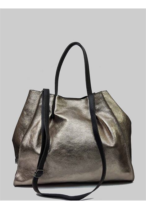 Woman Bags in Champagne Laminated Leather with Double Handles and Removable Shoulder Strap Spatarella | Bags and backpacks | PE0212607