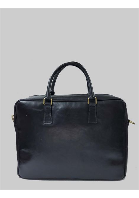 Men's Accessories 24h Bag in Black Leather with Leather Handles and Adjustable and Removable Shoulder Strap Spatarella | Bags and backpacks | PEU0204001