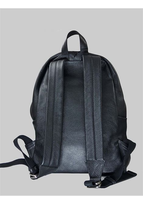 Men's Accessories Black Leather Backpack with Wide Leather Straps Spatarella | Bags and backpacks | PEU0205001