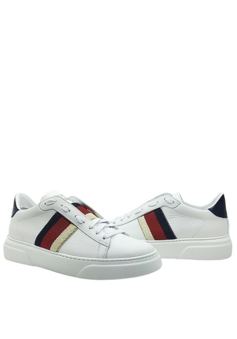 Calzature Uomo Sneakers in Pelle Bianca con Bande Laterali e Fondo Ultra Leggero Stokton | Sneakers | 650-U100