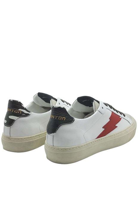 Calzature Uomo Sneakers in Pelle e Camoscio Off White con Logo Laterale e Fondo Vintage in Gomma Stokton | Sneakers | BLAZE-U100