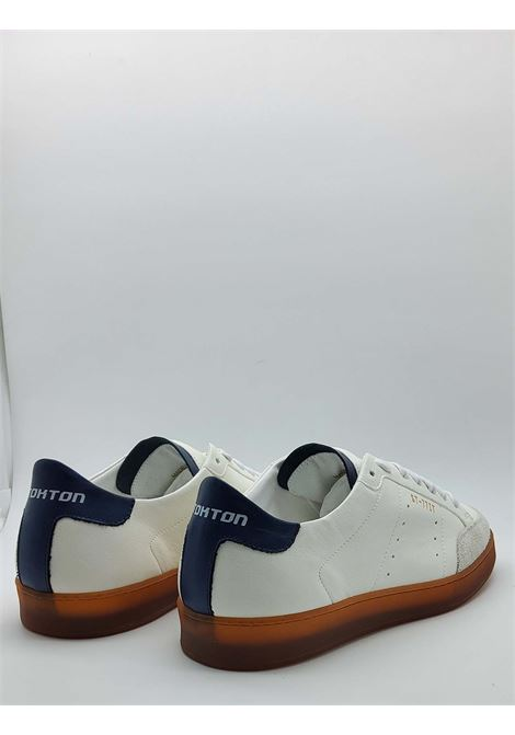Men's Shoes Sneakers Off White in Leather and Suede and Vintage Honey Rubber Bottom Stokton | Sneakers | NOHA100