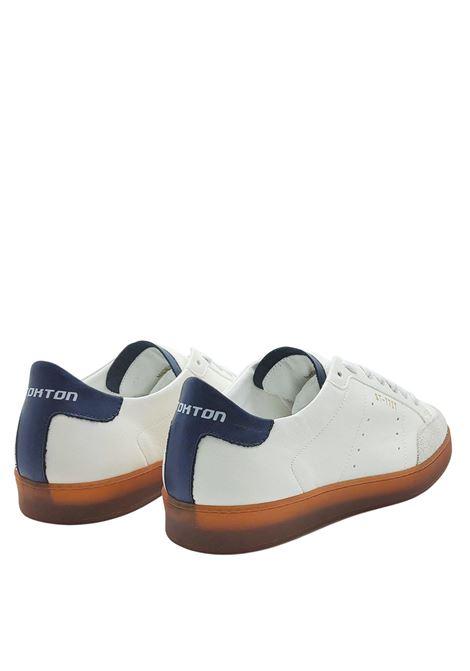 Calzature Uomo Sneakers in Pelle e Camoscio Off White e Fondo Vintage in Gomma Miele Stokton | Sneakers | NOHA100
