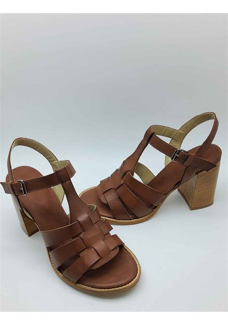 Women's Shoes High Heel Sandals in Leather with Ankle Strap and Heel in Natural Leather Tattoo | Sandals | 104014