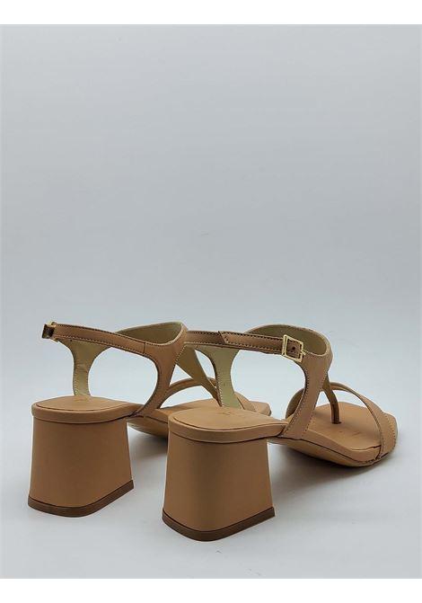 Calzature Donna Sandali Infradito In Pelle Nude Tacco E Punta Quadra Tattoo | Sandali | 110300