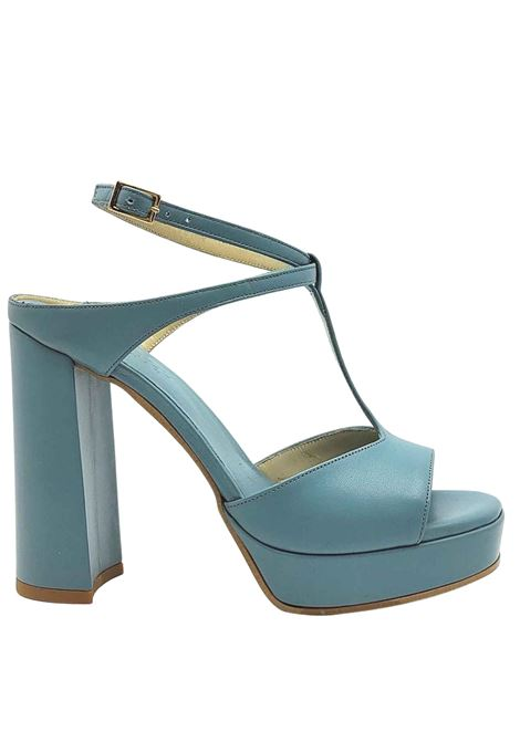 Women's Shoes Powder Leather Sandals with High Heel and Plateau Ankle Strap Tattoo | Sandals | 117003