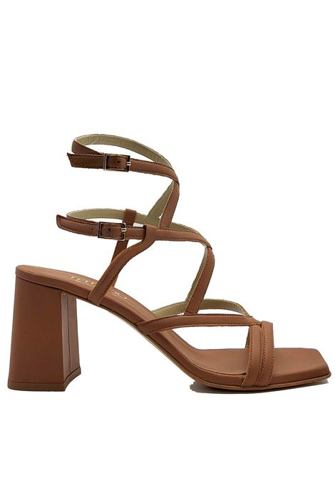 Women's Shoes Leather Sandals Square Toe High Heel With Intertwined Straps Tattoo | Sandals | 119MILO014