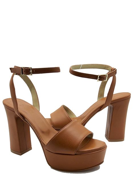 Women's Shoes High Heel and Plateau Sandals in Black leather with Ankle Strap Tattoo | Sandals | 122014