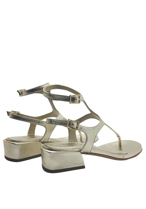 Women's Shoes Sandals Flip Flops In Platinum Leather With Low Heel and Strap Closure Tattoo | Sandals | 3019600