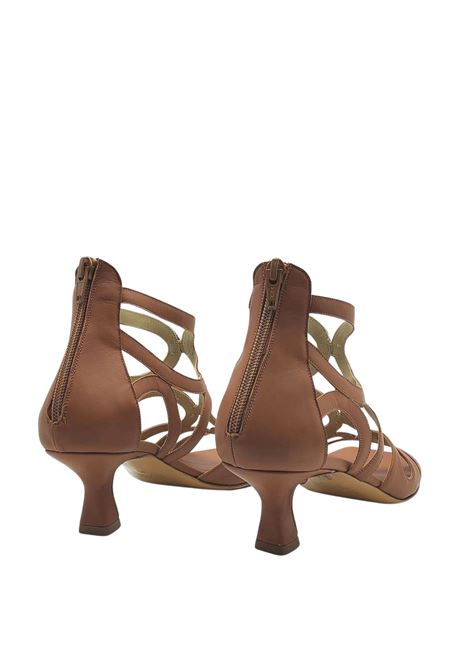 Women's Shoes Leather Sandals with Back Zip and Square Toe Tattoo | Sandals | 5025014