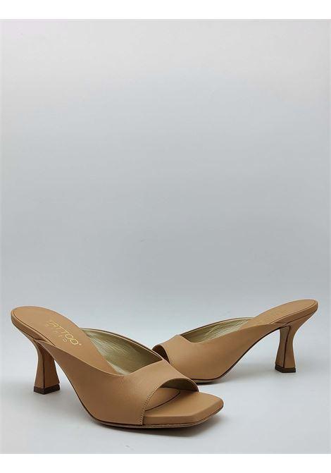 Calzature Donna Sandalo Scalzato in Pelle Nude con Tacco Tattoo | Sandali | 7027300