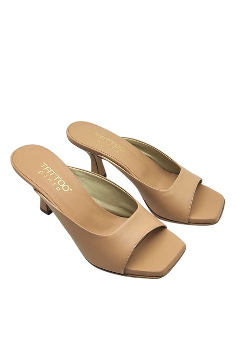 Women's Shoes Barefoot Sandal in Nude Leather with Heel Tattoo | Sandals | 7027300