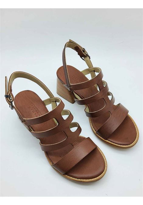 Women's Shoes Leather Sandals with Natural Leather Heel and Ankle Strap Tattoo | Sandals | MARTA1014
