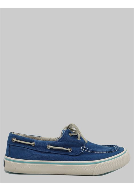 Sperry Loafers Men Shoes with Blue Fabric Tray with Leather Laces and Rubber Sole Top Sider | Mocassins | STS22025002