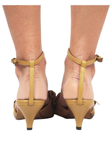 Calzature Donna Sandali in Pelle Beige con Fiocco in Pelle in Tinta e Cinturino alla Caviglia Toral | Sandali | TL12662015