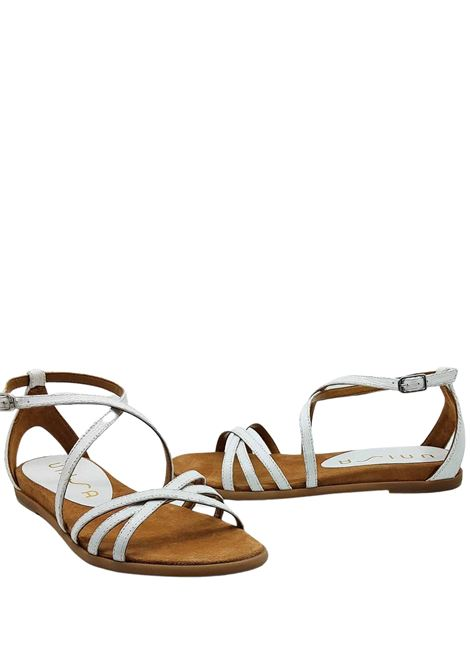 Women's Shoes Low Sandals with Ankle Strap Unisa | Flat sandals | CARCER100
