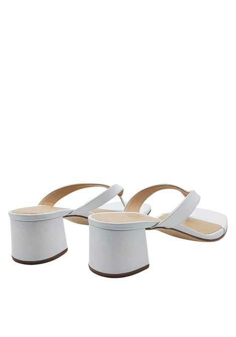 Women's Shoes Thong Sandals in White Leather with Heel 50 Unisa | Sandals | KOLMA100