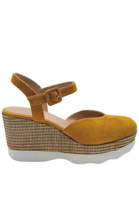 Women's Shoes Espadrilles in Mustard Suede with High Rope Wedge and Carrarmato Bottom Unisa | Sandals | LAYOSA008