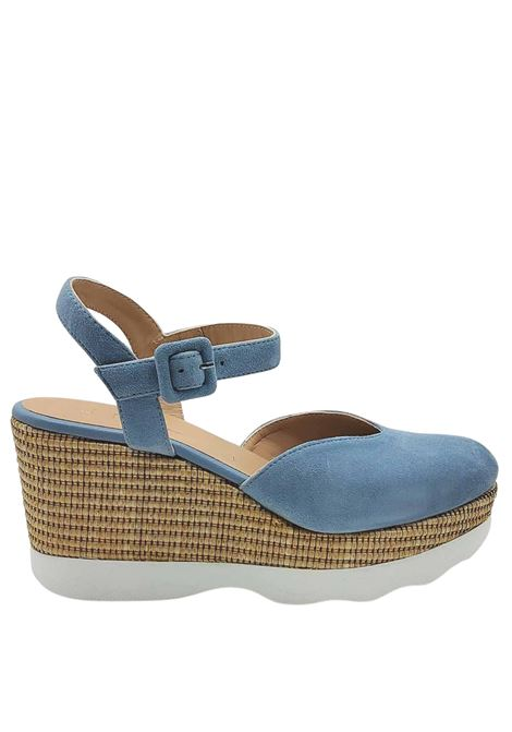 Women's Shoes Espadrilles in Denim Suede with High Rope Wedge and Carrarmato Bottom Unisa | Sandals | LAYOSA026