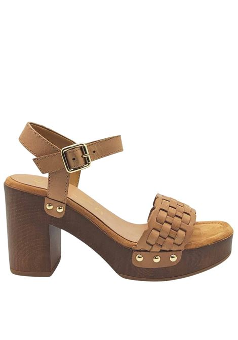 Women's Shoes Clog Sandals in Braided Leather with Ankle Strap and Padded Insole Unisa |  | TARRES014