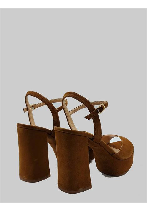 Women's shoes Sandals in Leather Suede with High Platform Heel and Ankle Strap Unisa | Sandals | VEGARA014