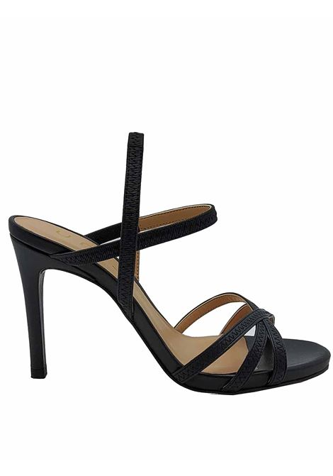Women's Shoes Black Leather Sandals with High Stiletto Heel and Ankle Straps Unisa | Sandals | YAMALI001