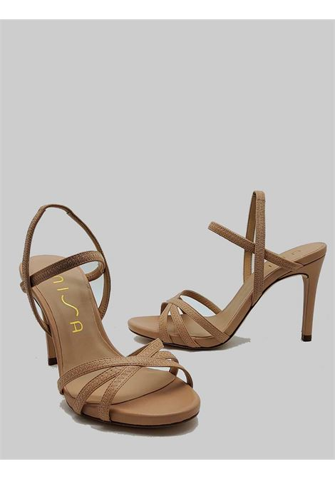 Women's Shoes Sandals in Nude Leather with High Stiletto Heel and Ankle Straps Unisa | Sandals | YAMALI300