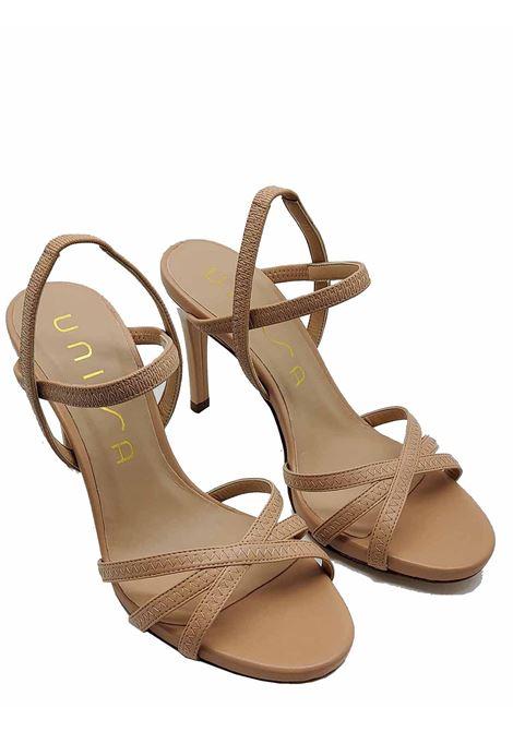 Calzature Donna Sandali in Pelle Nude con Tacco Alto a Spillo e Cinturini alla Caviglia Unisa | Sandali | YAMALI300