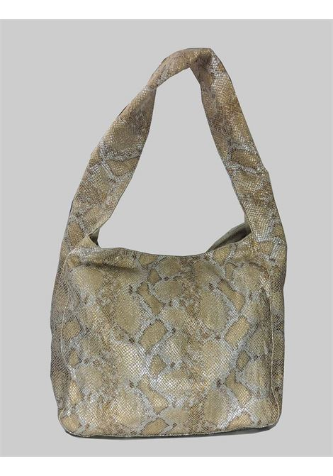 Woman Shoulder Bag in Platinum Laminated Python Printed Fabric Unisa | Bags and backpacks | ZMINTA600
