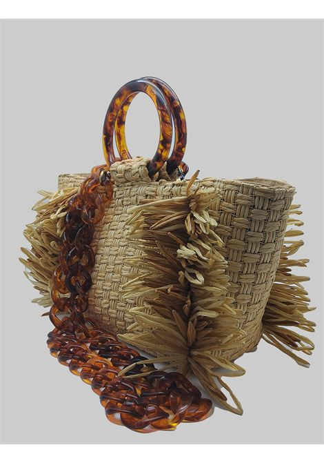 Natural Woven Raffia Woman Bag With Resin Handles Via Mail Bag | Bags and backpacks | RAFIAR01