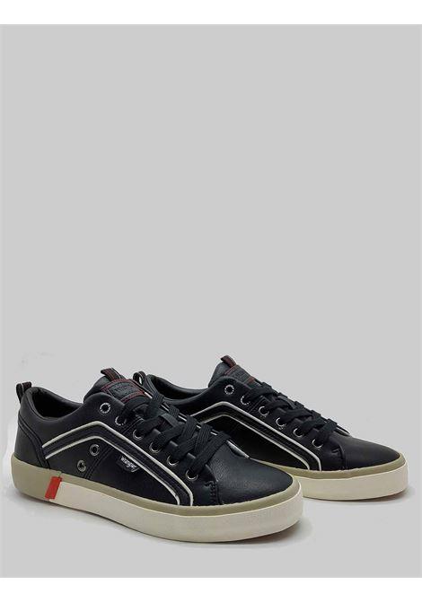Calzature Uomo Sneakers Vegan Frisco in Eco Pelle Nero e Fondo in Gomma Wrangler | Sneaker | WM01033A062