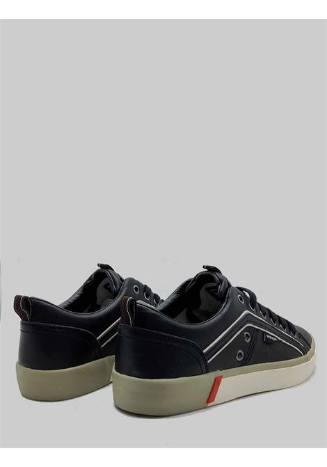 Men's Shoes Vegan Frisco Sneakers in Black Ecoleather and Rubber Bottom Wrangler |  | WM01033A062
