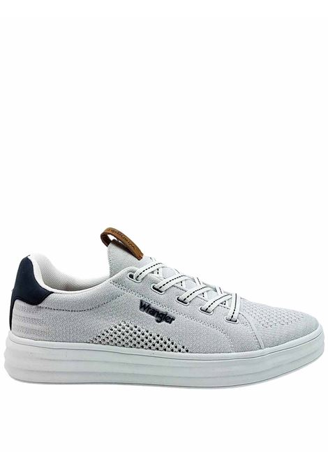 Men's Shoes Sneakers Jelly Lace-up in White Fabric and Ultra Light White Rubber Sole Wrangler | Sneakers | WM11000A100
