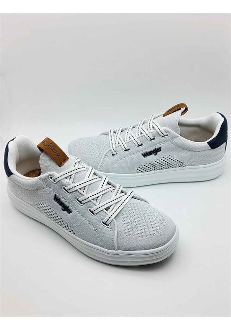 Calzature Uomo Sneakers Jelly Stringate in Tessuto Bianco e Suola in Gomma Bianca Ultra Leggera Wrangler | Sneakers | WM11000A100