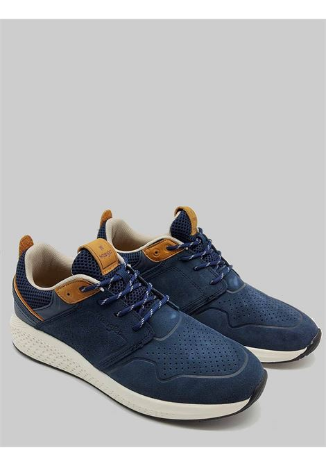 Calzature Uomo Sneakers Sequoia City in Camoscio Blu Militare con Fondo Ultraleggero Wrangler | Sneaker | WM11071A016