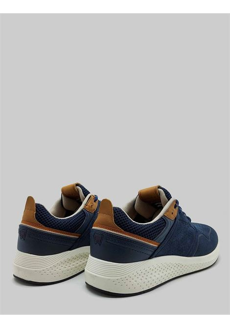 Men's Shoes Sequoia City Sneakers in Military Blue Suede with Ultralight Bottom Wrangler |  | WM11071A016