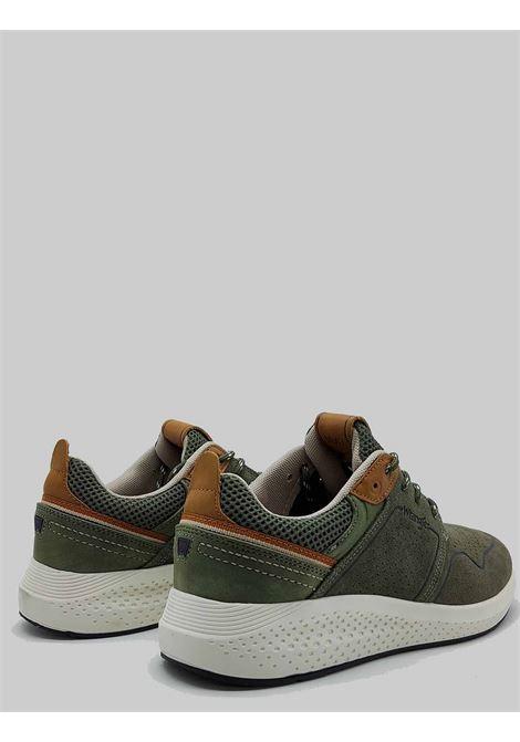 Calzature Uomo Sneakers Sequoia City in Camoscio Verde Militare con Fondo Ultraleggero Wrangler | Sneaker | WM11071A020