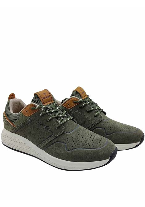 Men's Shoes Sequoia City Sneakers in Military Green Suede with Ultralight Bottom Wrangler | Sneakers | WM11071A020