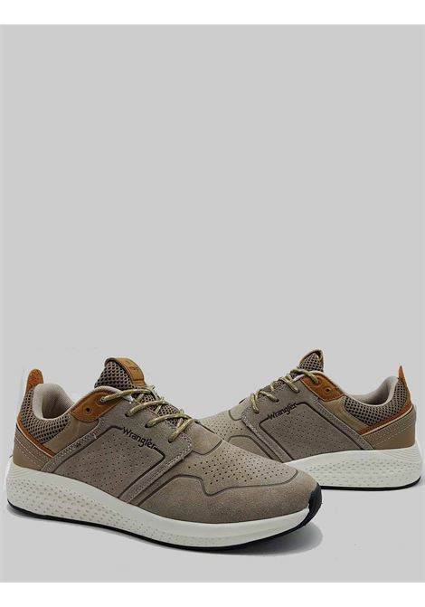 Men's Shoes Sequoia City Sneakers in Military Taupe Suede with Ultralight Bottom Wrangler | Sneakers | WM11071A025