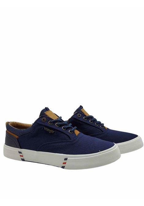 Calzature Uomo Sneakers Monument Board in Tessuto Blu e Fondo in Gomma Wrangler | Sneakers | WM11114A016