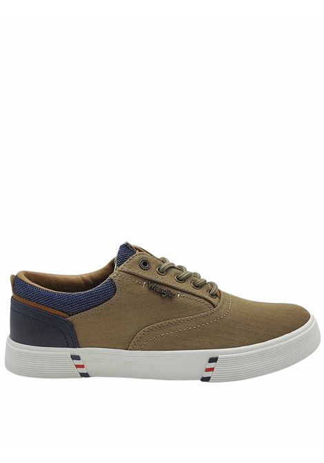 Men's Shoes Monument Board Sneakers in Taupe Fabric and Rubber Bottom Wrangler |  | WM11114A025